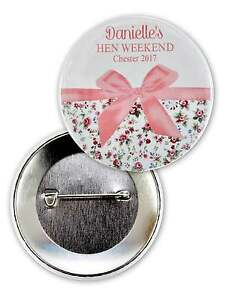 PERSONALISED HEN PARTY BADGES HEN BADGES CUSTOM PERSONAL PERSONALIZED HENS BADGE