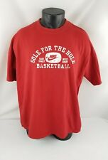 Vintage Original Nike Basketball Red T-Shirt-Gray Tag- East/West Coast- Adult Xl