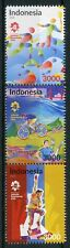 Indonesia 2018 MNH Asian Games Pt II 3v Strip B Badminton Cycling Sports Stamps