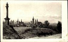 Klatovy Klattau Tschechien s/w AK 1950 Fernblick auf die Stadt Schwarzer Turm