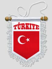 FANION VOITURE TURKIYE TURQUIE FOOTBALL 13 X 15 CM