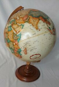 Replogle 12 World Classic Globe Wooden Base See Pictures