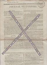 Journal de l'Empire du Dimanche 28 Juin 1807. Imprimerie Le Normant.