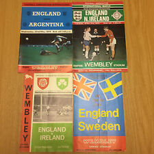 ENGLAND HOME PROGRAMMES vs IRELAND (1965 & 1970)-SWEDEN (1968)-ARGENTINA (1974)