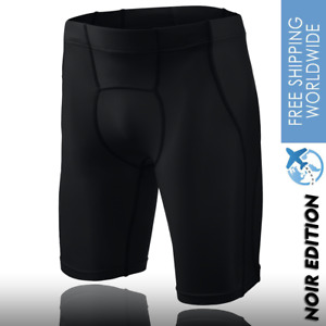 Men's Sport Gym Compression Shorts Running Tights Weightlifting Noir XS/S/M/L/XL