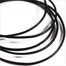 Condon de CUIR Naturel 1mm Noir 1 Mètre pour Colliers et Bracelets