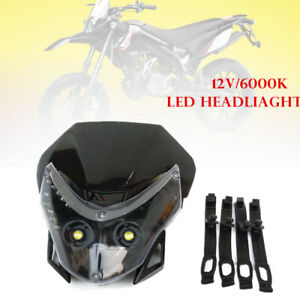 12V 6000k Head Lamp Led Lights For Honda Kawasaki Suzukki Yamaha Dirt Pit Bike