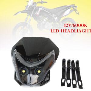 12V 6000k Motorcycle Bike ATV Head Lamp Led Lights Dirt Pit Bike Universal