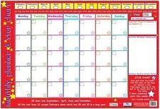 Educational Poster Chart Early Learning Monthly Planner KS1 KS2 New (0159)