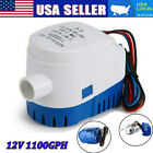 Boat Automatic Submersible Bilge Pump 12V 1100GPH with Built-in Float Switch photo
