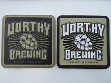 Beer Brewery COASTER ~ WORTHY BREWING ~ Bend, OREGON ** Add'l Coasters $0.25 S&H