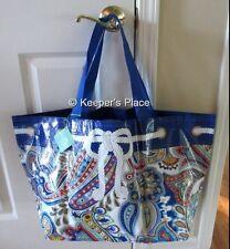 Vera Bradley Market Tote Bag Marina Paisley Large Reusable ECO Shopping New Tag