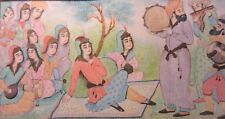 Very Fine 20th C. Hand-Painted Persian Miniature Painting -- Islamic/Middle East