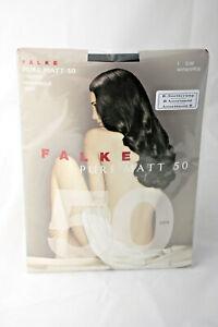 Falke ~ PURE MATT 50  ~  semi opaque tights BNWT ~ S/Medium black 50 denier