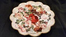 "Vintage Franklin Mint David Williamson Victorian Rose Bouquet Plate 8 1/8""Diam"