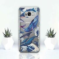 Whales Samsung Galaxy S8 S9 S10 Plus Case Animals Samsung Note 8 9 Rubber Cover