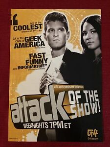 Attack Of The Show G4 Olivia Munn Kevin Pereira 2009 Ad/Poster Promo Art Ad