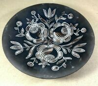 "Handmade Studio Pottery Collectors Bowl . Lovely Patterned Design 9.5"" (T14)"