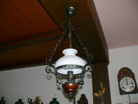 Dekorative Deckenlampe Landhausstil in Petroleumlampenform Schmiedeeisen