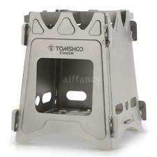 Tomshoo Folding Lightweight Titanium Wood Burning Backpacking Stove J1b5