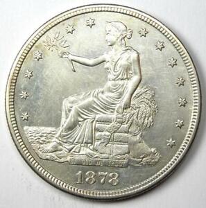 1878-S Trade Silver Dollar T$1 - Choice AU / UNC MS Details - Rare Coin!