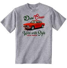 AUTO D'EPOCA ITALIANE ALFA ROMEO GIULIA SPRINT-Nuovo T-shirt di cotone