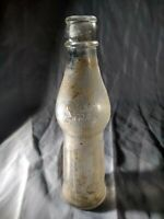 Vintage Orange Smile Co. Soda Bottle - Embossed Peanut Pinch Waist Glass 6 oz