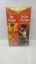 BRUCE LEE -ENTER THE DRAGON & THE CURSE OF THE DRAGON-VHS SEALED UNSED *RARE*