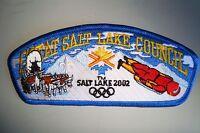 OA GREAT SALT LAKE COUNCIL SHOULDER PATCH CSP OLYMPIC BLUE 2002 SERVICE FLAP