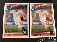 2018-19 Donruss Optic Soccer Jadon Sancho RC LOT (2) Cards Optic & Donruss