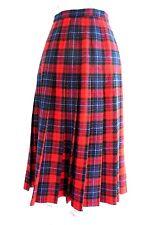 Pendleton Vintage Full Pleated Wool Plaid Skirt Authentic Mason Tartan