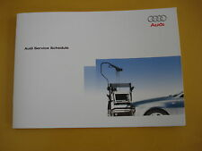 AUDI SERVICE BOOK NEW ALL MODELS PETROL AND DIESEL A1 A2 A3 A4 A5 A6 A8 S2 S3@@@
