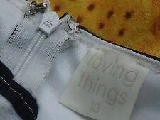 LOVING THINGS StripedDaffyPrintStretchMini Size10NWoT