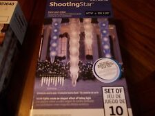 ICICLE SHOOTING STAR ICICLE LIGHT SHOW CHRISTMAS STRING LIGHT BLUE WHITE MULTICO