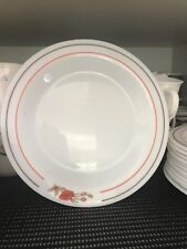 Vintage arcopal plates made in France milk glass 1960s