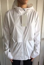 LULULEMON Size 12 Nonstop Rain Jacket NWT White Studio Define Wind Coat Shell