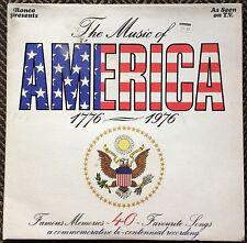 THE MUSIC OF AMERICA,1776-1976,LP 33,COMMEMORATIVE BI-CENTENNIAL REVORDING.