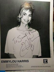 1990s EmmyLou Harris Autograph Photo