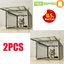 2X Humane Animal Trap 27.5x15x12 Cage Small Live Rodent Control Rat Squirrel Bp
