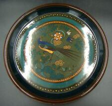 Art Nouveau Arnhem Holland Ceramic Gouda High Lustre Blue Bird Plate Charger