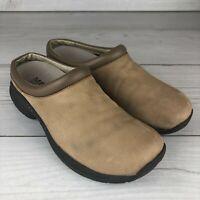Merrell Moc Mules Jungle Primo Stone Women's Size 9 Brown Tan Slip On Hiking