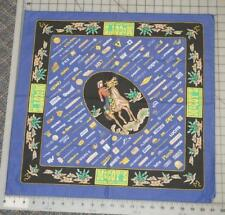 Vintage McCoy's Building Supply Centers Bandana Headscarf Neckerchief Blue Black