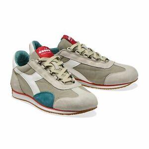Diadora Heritage Scarpa Sneaker Unisex EQUIPE H CANVAS STONE WASH Grigio