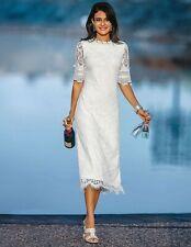 Langes Spitzenkleid mit Halbarm Kleid Madeleine Gr. 36 Neu