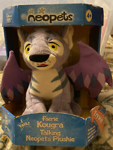 "2003 Neopets Faerie Kougra Talking & Light Up 9.5"" Plush. New"