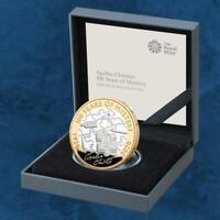 Großbritannien - Agatha Christie - 100 Jahre Mysterium - £2 Pound 2020 Silber PP