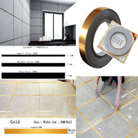 Gold Foil Silver Foil Self Adhesive Tile Stickers Tape Wall Floor Car Decor Diy