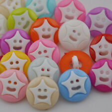 100pcs 14mm Mix Color heart with Plastic Button / Sewing lots Free Shipping PT56