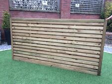 Modern Fence Panels, horizontal slatted double sided, pressure treated, garden