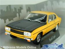 FORD CAPRI RS MK1 CAR MODEL YELLOW & BLACK 1:43 SIZE CARARAMA SPORTS 1960'S T3